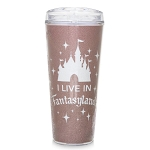Disney Travel Tumbler - Briar Rose Gold Fantasyland Castle