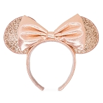 Disney Minnie Ear Headband - Briar Rose Gold - Sequined Bow