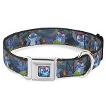 Disney Designer Pet Collar - Stitch Hula Dance - 5 Poses