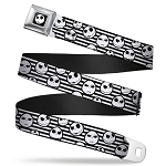 Disney Designer Seatbelt Belt - Nightmare Before Christmas - Jack Skellington - Stripe