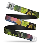 Disney Designer Seatbelt Belt - Sleeping Beauty & Maleficent Dragon Scenes