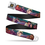 Disney Designer Seatbelt Belt - Aladdin & Jasmine - Moonlight Castle Scene