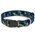 Disney Designer Breakaway Pet Collar - Dory Expressions - Yellow Swirl
