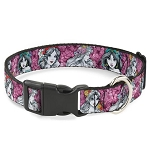 Disney Designer Breakaway Pet Collar - Princess Sketch - Floral Collage