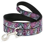 Disney Designer Pet Leash - Princess Sketch - Floral Collage