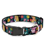 Disney Designer Breakaway Pet Collar - Alice & Cheshire Cat w/ Golden Afternoon Flowers