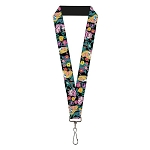 Disney Designer Lanyard - Alice & Cheshire Cat w/ Golden Afternoon Flowers