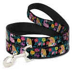 Disney Designer Pet Leash - Alice & Cheshire Cat w/ Golden Afternoon Flowers