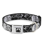 Disney Designer Pet Collar - Jack Skellington & Oogie Boogie - Monochrome Moon Scene