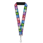 Disney Designer Lanyard - Inside Out -  Character Expression Blocks