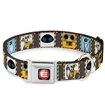 Disney Designer Pet Collar - WALL-E & Eve - Hazard Blocks