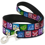 Disney Designer Pet Leash - Inside Out -  Character Expression Blocks