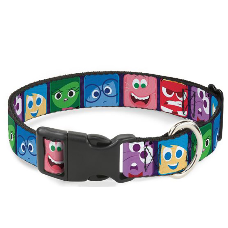 Disney Designer Breakaway Pet Collar - Inside Out -  Character Expression Blocks