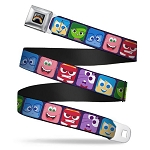Disney Designer Seatbelt Belt - Inside Out -  Character Expression Blocks