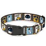 Disney Designer Breakaway Pet Collar - WALL-E & Eve - Hazard Blocks