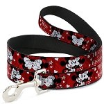 Disney Designer Pet Leash - Mickey & Minnie - Hugs and Kisses