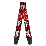 Disney Designer Guitar Strap - Mickey & Minnie - Hugs and Kisses