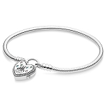 Disney Pandora Bangle - Fantasyland Castle Heart Bracelet - 7.5