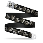 Disney Designer Seatbelt Belt - NBC - Jack Skellington Expressions - Staggered