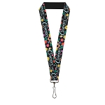 Disney Designer Lanyard - Curiouser & Curiouser - Alice in Wonderland Flowers