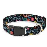 Disney Designer Breakaway Pet Collar - Curiouser & Curiouser - Alice in Wonderland Flowers