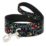 Disney Designer Pet Leash - Curiouser & Curiouser - Alice in Wonderland Flowers