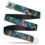 Disney Designer Seatbelt Belt - Lilo Stitch & Scrump - Movie Scenes