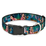 Disney Designer Breakaway Pet Collar -  Lilo Stitch & Scrump - Movie Scenes