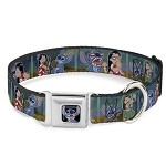 Disney Designer Pet Collar -  Lilo Stitch & Scrump - Movie Scenes