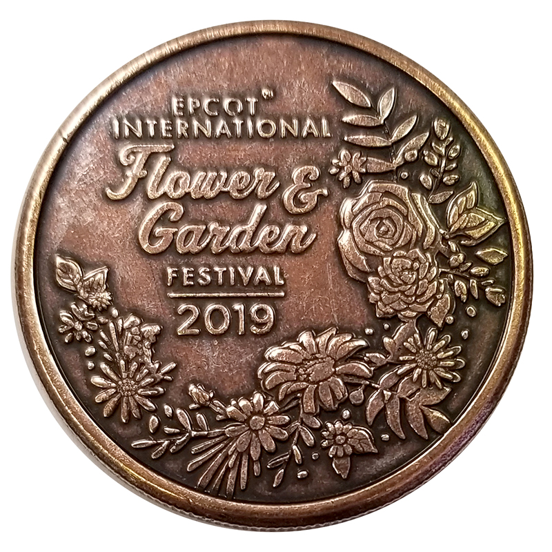 Disney World Pocket Token Coin - EPCOT International  Flower and Garden Festival 2019 - Flowers