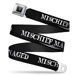 Universal Designer Seatbelt Belt - Mischief Managed - Harry Potter