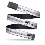 Designer Web Belt - Harry Potter - Slytherin Gryffindor & Ravenclaw Logos