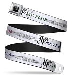 Designer Seatbelt Belt - Harry Potter - Slytherin Gryffindor & Ravenclaw Logos