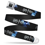 Designer Seatbelt Belt - Harry Potter Logo w/ Patronus Animals