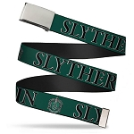 Designer Web Belt - Slytherin Crest - Harry Potter