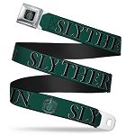Universal Designer Seatbelt Belt - Slytherin Crest - Harry Potter