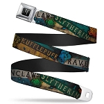 Designer Seatbelt Belt - Hogwarts House Banner Logos & Crests - Harry Potter