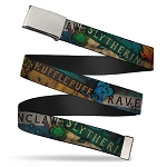 Designer Web Belt - Hogwarts House Banner Logos & Crests - Harry Potter