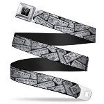 Designer Seatbelt Belt - Hogwarts Potion Labels - Harry Potter