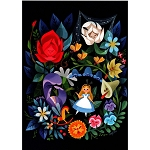 Disney Postcard - Joey Chou - Alice and the Flowers