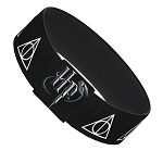 Designer Elastic Bracelet - Harry Potter - Deathly Hallows Symbols