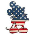 Disney Pin - Mickey Silhouette - Americana Mickey Mouse