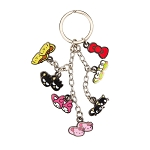 Universal Keychain - Hello Kitty Character Slippers Charms