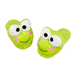 Universal Plush Slippers - Hello Kitty - Keroppi Green