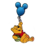 Disney Winnie the Pooh Pin - Winnie the Pooh Holding a Mickey Ears Balloon