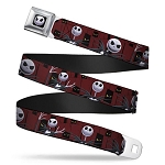 Disney Designer Seatbelt Belt - NBC - Jack Skellington - Spooky Eyes