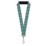 Disney Designer Lanyard - Alice Through the Looking Glass - Cheshire Cat Stripes