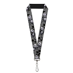 Disney Designer Lanyard - Jack Skellington Poses - Peeping Eyes - b&w