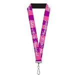 Disney Designer Lanyard - Follow Me to Wonderland - Cheshire Cat Stripes