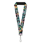 Disney Designer Lanyard - Follow Me to Wonderland - Alice & Cheshire Cat w/ Flowers